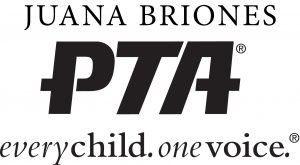 Juana Briones PTA logo: every child, one voice